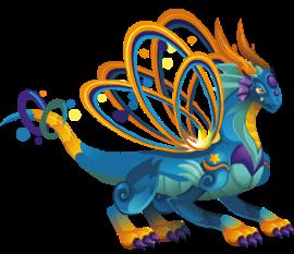 imagen del dragon saturno de dragon city