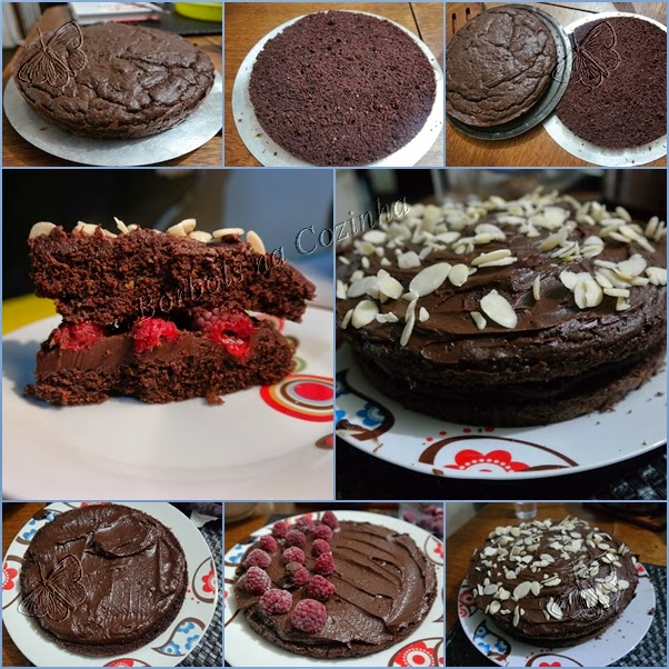 Bolo de chocolate recheado sem glúten sem açúcar sem lacotse