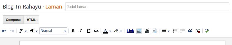 teks editor halaman statis