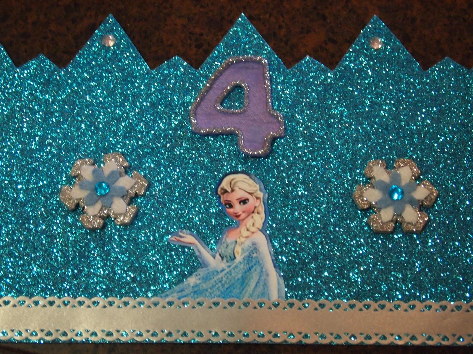 LAS PINTURAS DE ABRIL: Corona de cumpleaños Frozen