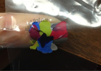 nailslikelace plastic wrap marble nails