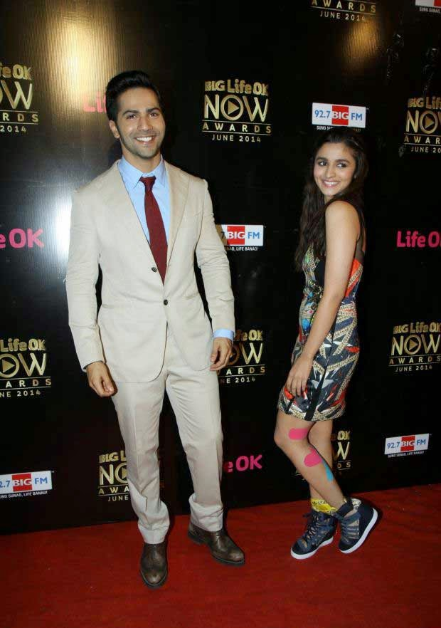 Alia Bhatt and Varun Dhawan At Life Ok Now Awards 2014