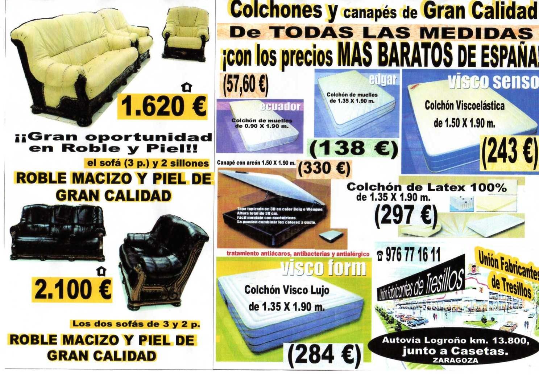 Uni n fabricantes de tresillos junio 2012 for Tresillos baratos