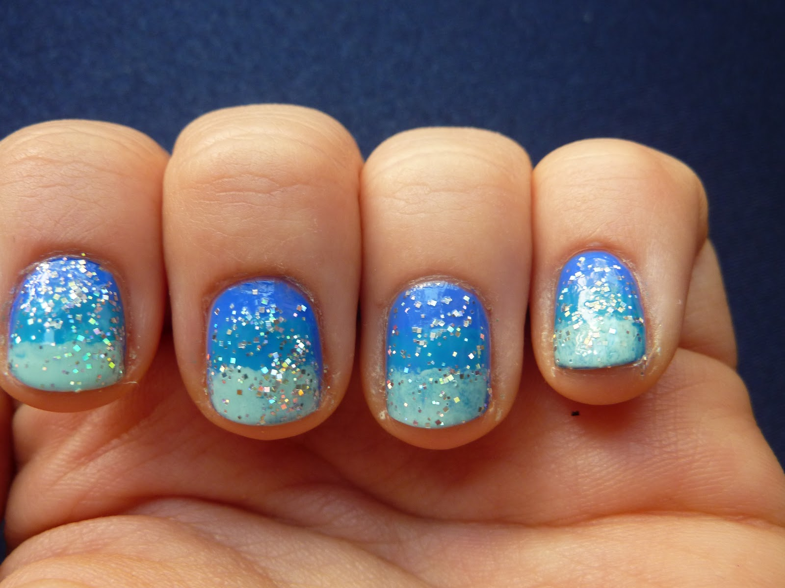 Blue Ombre Summer Nail Designs