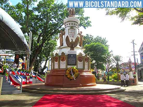Plaza Quince Martires during the 116th Independence Day in Naga City