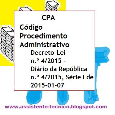Novo Código Procedimento Administrativo