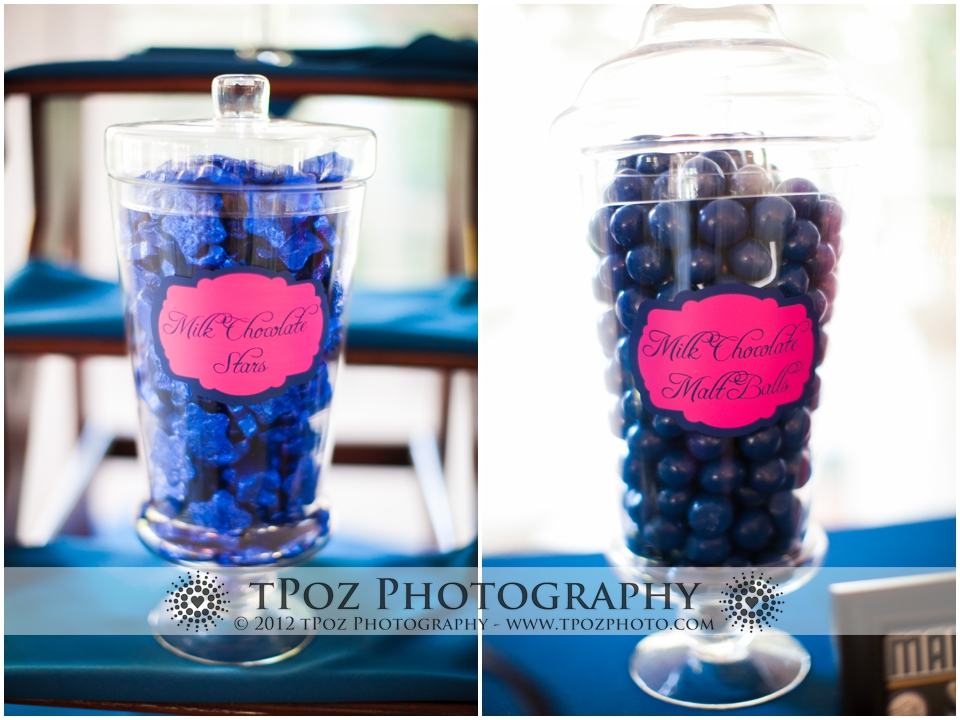 candy buffet blue candies