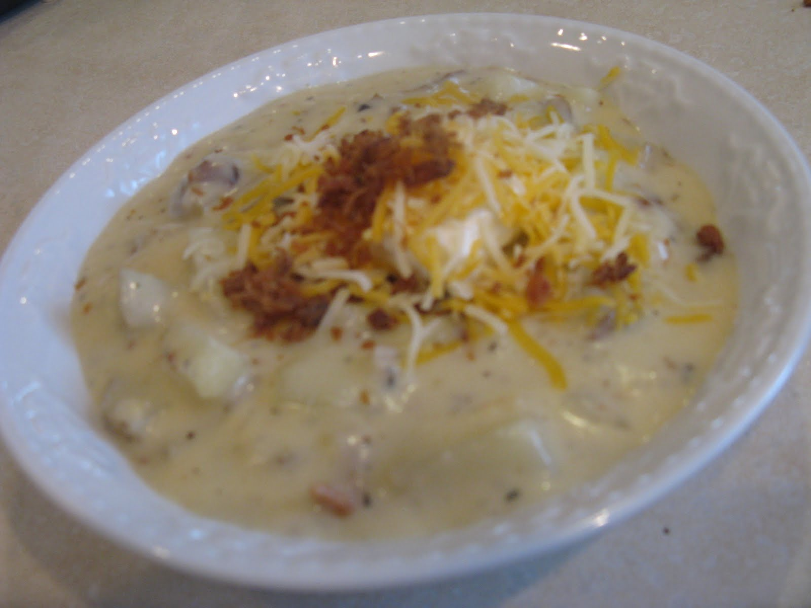 Tricks.Treats.Yummy Eats: Baked Potato Soup