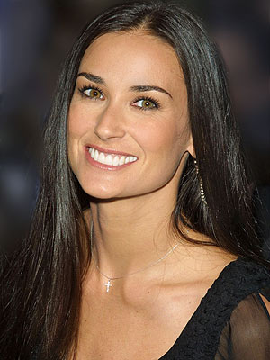 demi moore smile