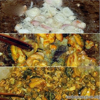 Cách nấu bún ốc chuối đậu ngon tuyệt6