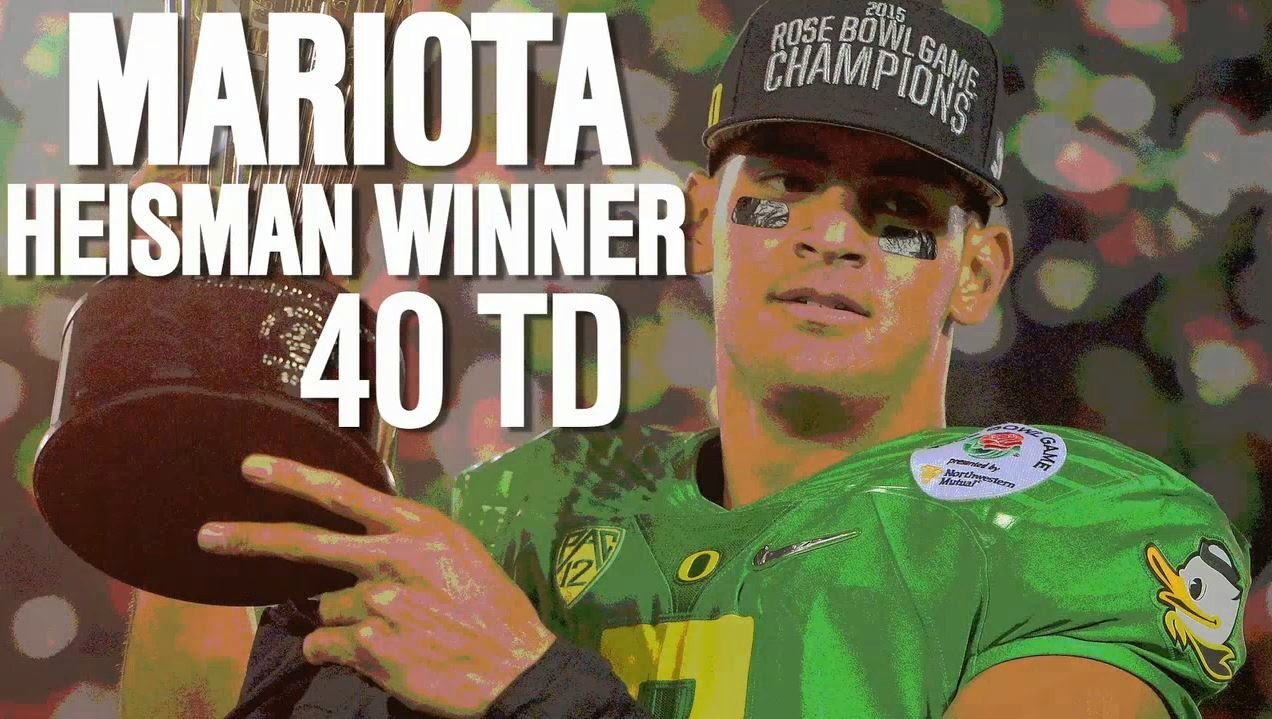 Marcus Mariota won the Heisman