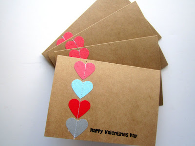 Brown paper valentines card