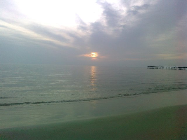 Allapuzha beach sunset