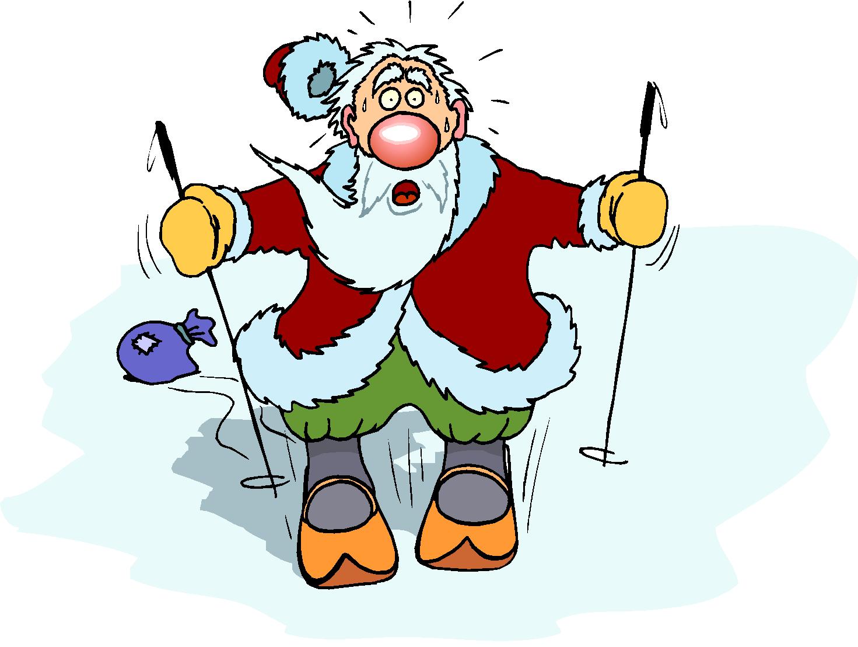 Santa Clause Play Ice Skating Free Clipart