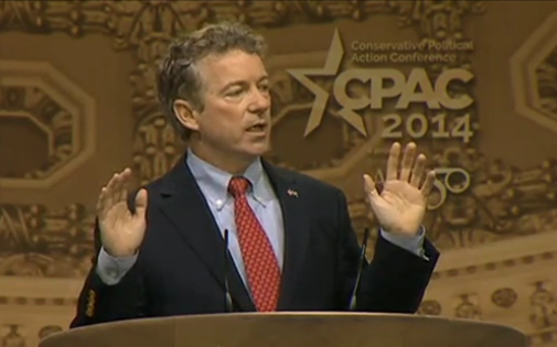 http://www.mediaite.com/tv/rand-pauls-starkly-libertarian-cpac-speech-we-must-defend-the-rights-of-all/#ooid=p1ajIybDr_WcLuQzYHxypbnW19nN2nDC