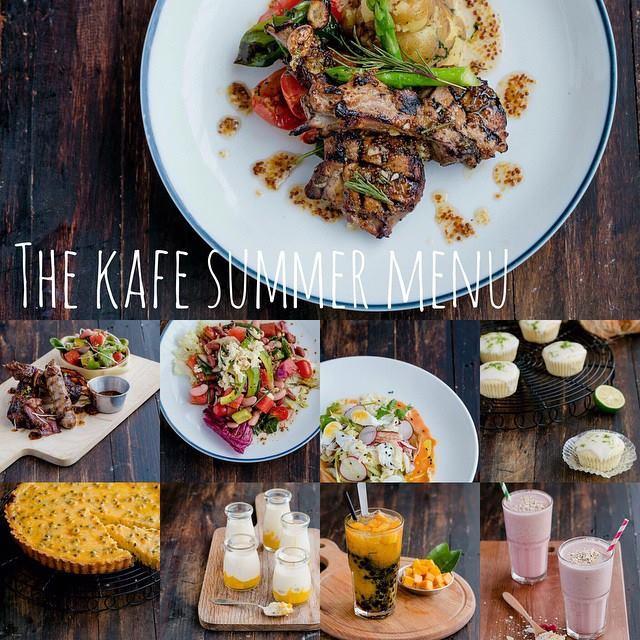 Các món ăn của Kitchen Art - The KAfe luôn tươi ngon, bổ dưỡng. Trong ảnh là bún thịt nướng kiểu Thái và mì pasta mùa xuân