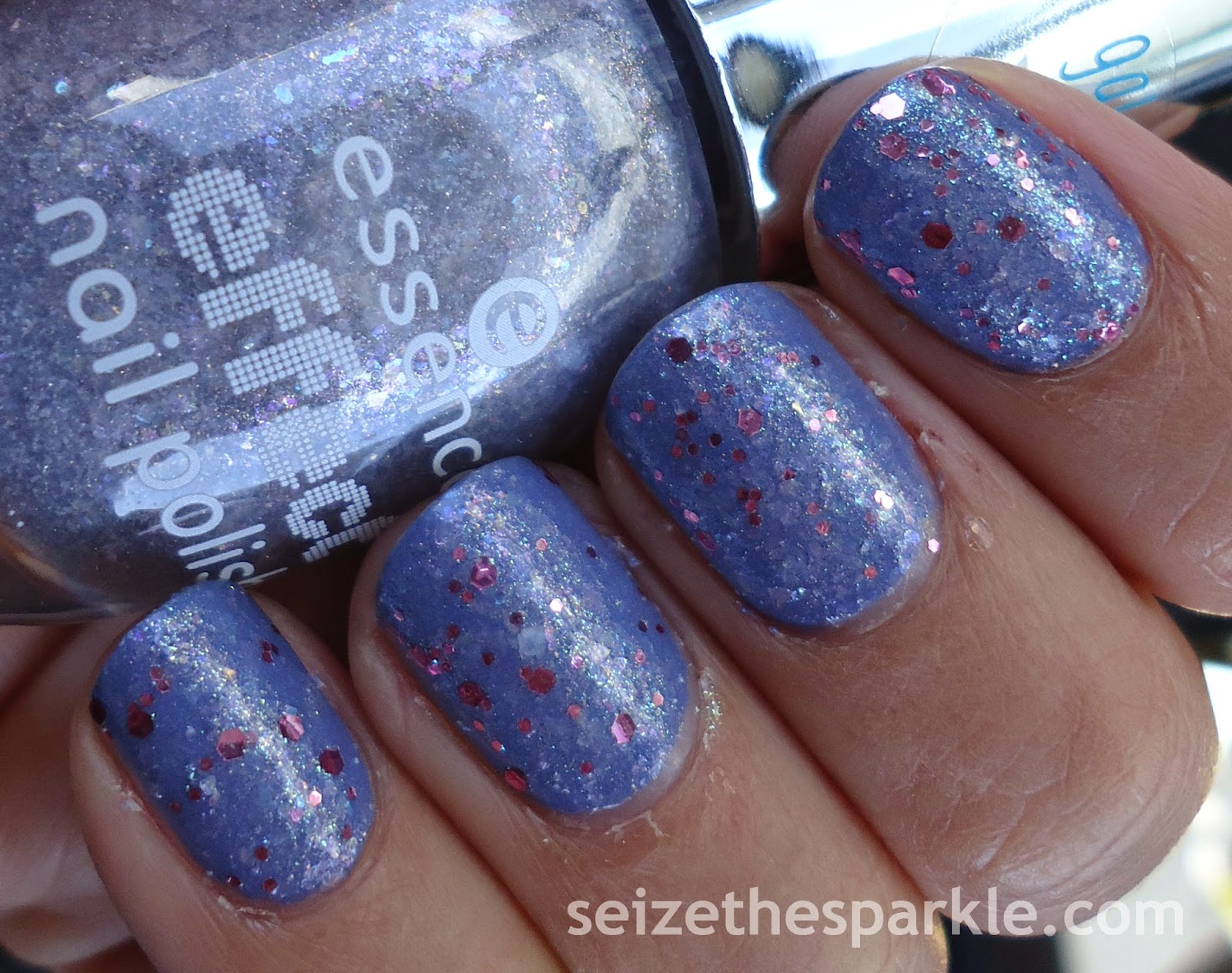 Essence Glitz & Glam and Rock My World over SinfulColors Lavender