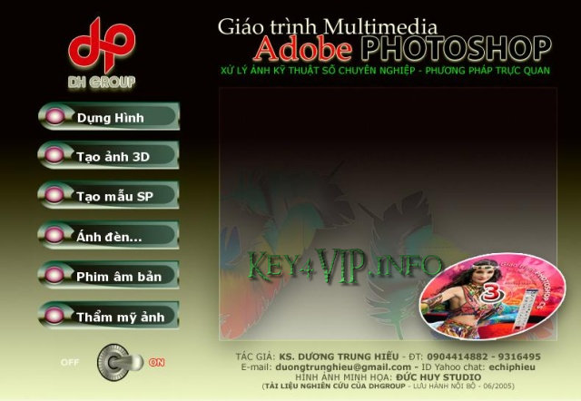 32 CD dạy Photoshop của kỹ sư Dương Trung Hiếu Full + Ebook tiếng Việt học Photoshop