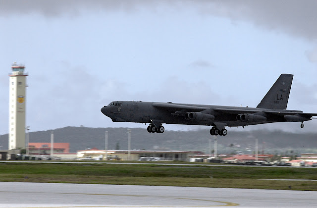 B-52 Stratofortress deployed from Barksdale Air Force Base, La. lands