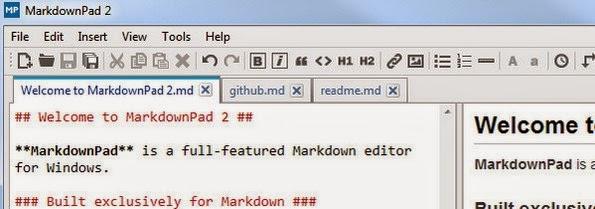 MarkdownPad editor for markdown files