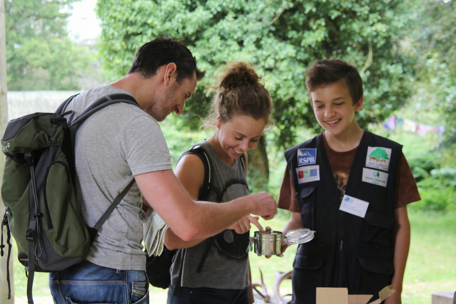 New Forest Volunteer Fair - Dominik Reynolds talks to visitors