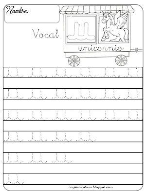 caligrafía Vocal u