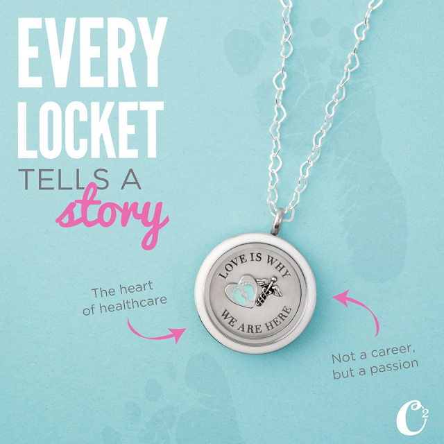 Origami Owl Living Locket for Nurses available at StoriedCharms.com