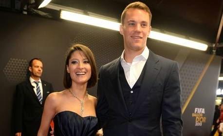 Foto Neuer Kiper Timnas Jerman dan Istri