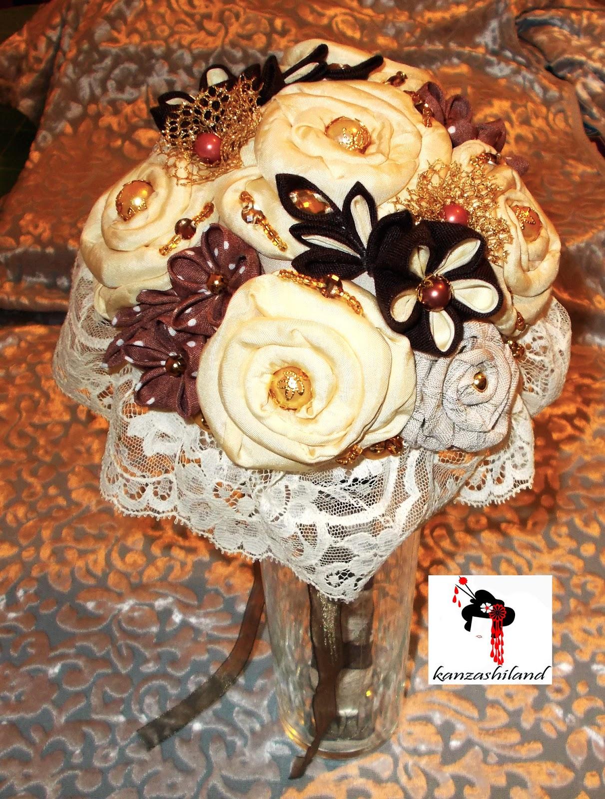 kanzashiland, ramo de novia