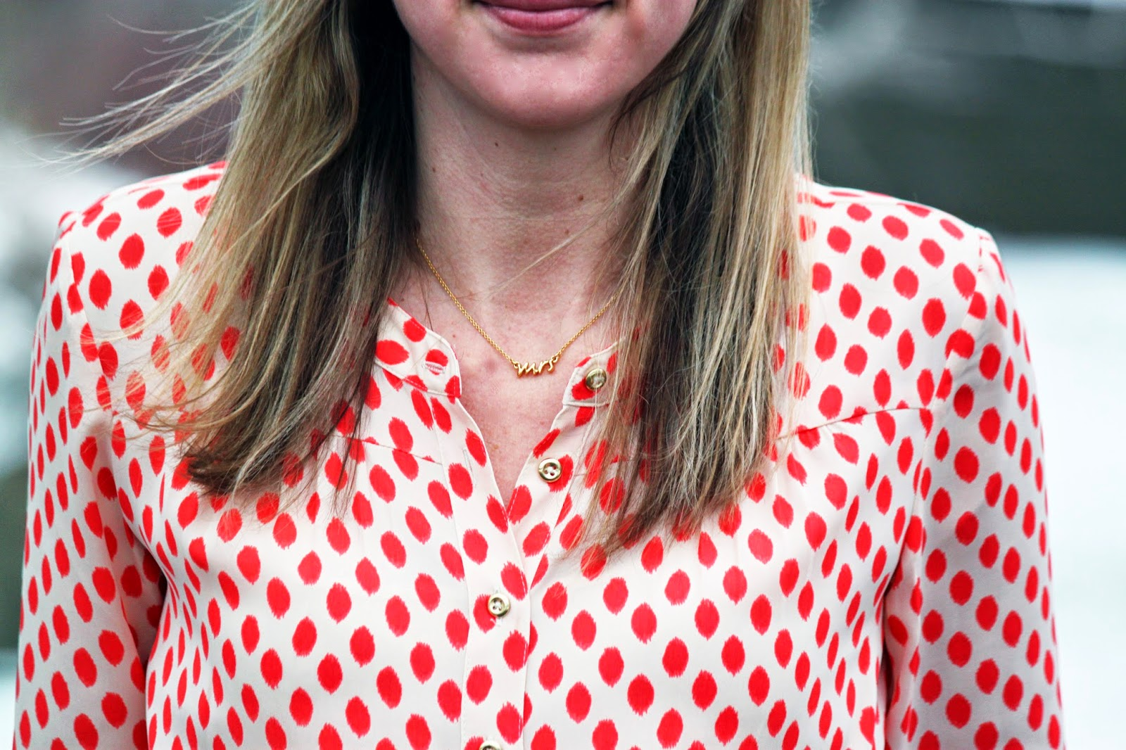 """Kate Spade Say Yes """"Mrs"""" Necklace // The Salty Hanger"""