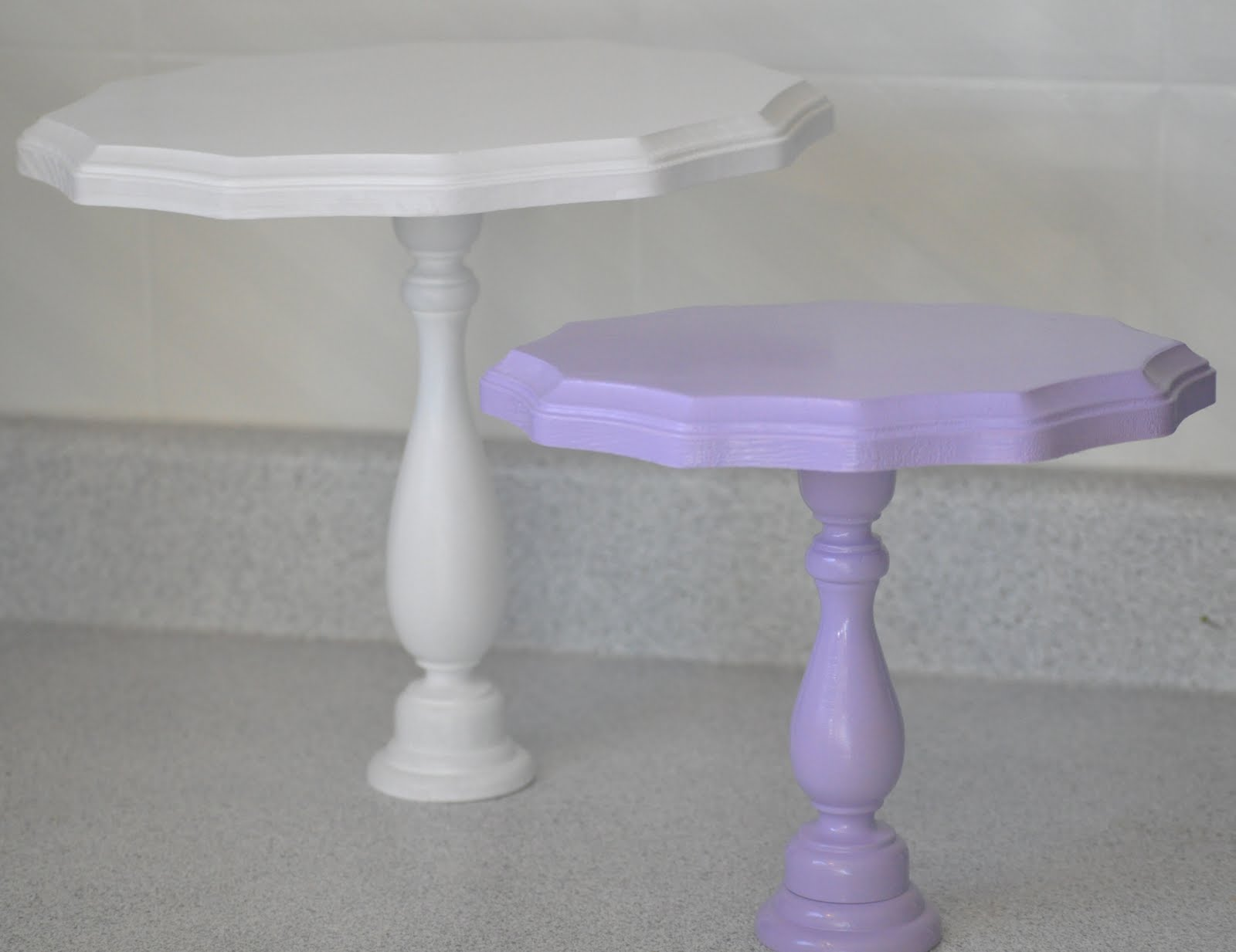 Modern Country Designs: DIY - Wooden Cake Stands