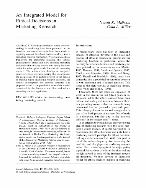 research paper on ethics in marketing Open document below is an essay on marketing ethics and regulation from anti essays, your source for research papers, essays, and term paper examples.