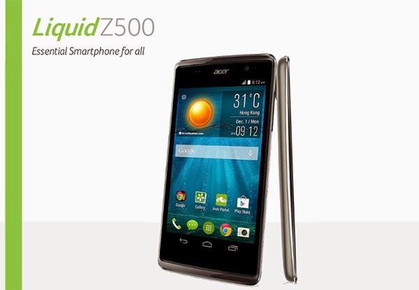 Spesifikasi Dan Harga Smartphone Acer Liquid Z500