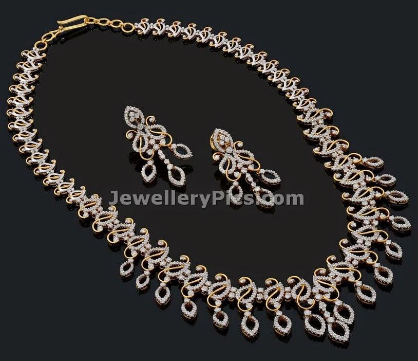 modern diamond haram by Vaibhav jewellers