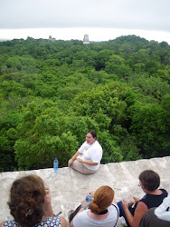 Tikal, above & below (Roxy on Temple IV)