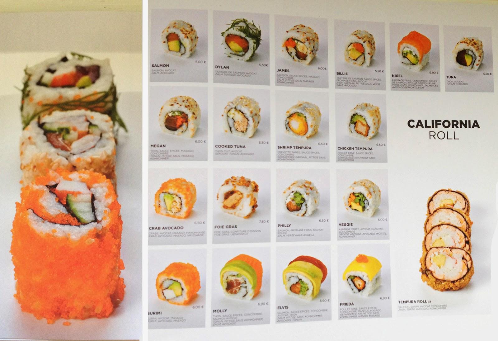 sushi oui - booklet