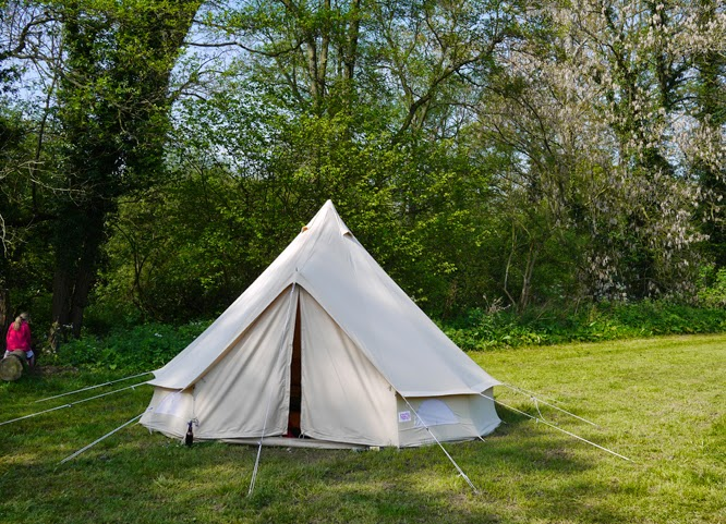 Our lovely bell tent at Wowo by Alexis at www.somethingimade