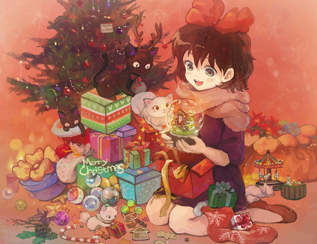 anime Christmas, Merry Christmas, anime Christmas wallpaper