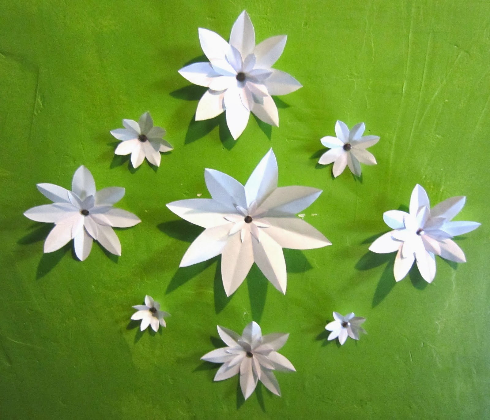 Cute Cuttlefish Diy 3d Paper Flower Wall Decor