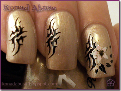 Tribal Nails - Boots 17 Lasting Fix Toasted Almond, plate HB43 and Fauxnad m71