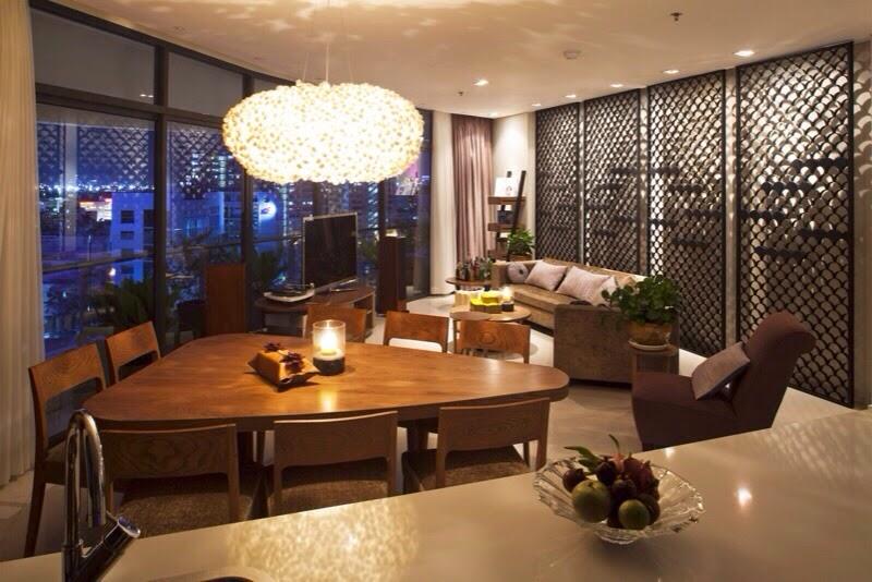 Phòng khách căn hộ City Garden 2 phòng ngủ đẹp
