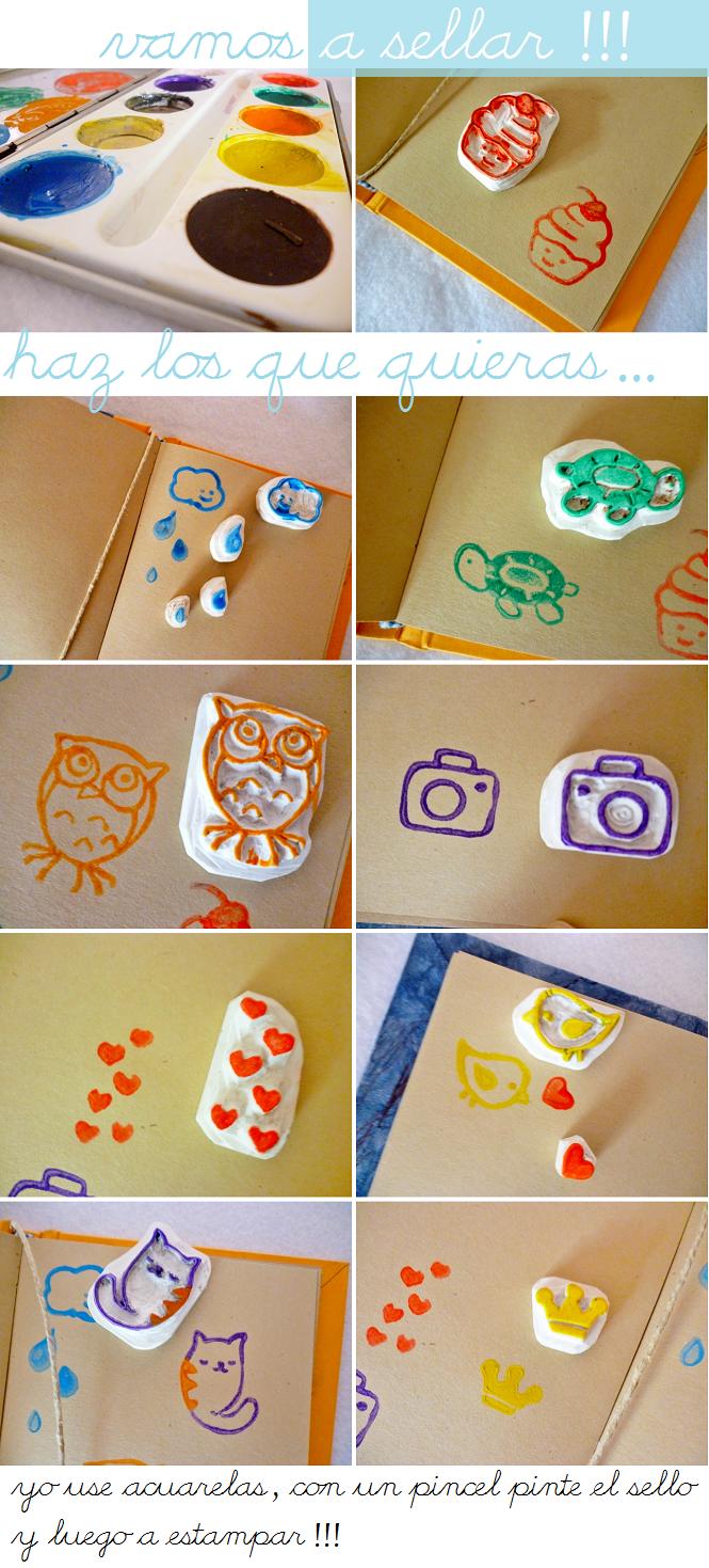 Sello personalizado casero con goma de borrar taringa for Como hacer sellos
