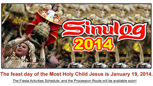 Sinulog 2014 Schedule