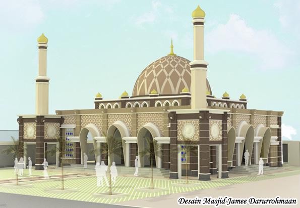 Desain Menara Jam Masjid Darurrohmaan