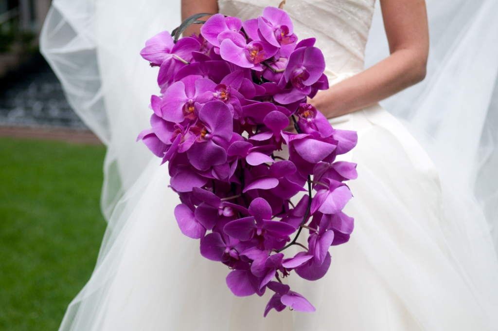 orchids wedding bouquets