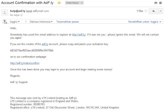 Konfirmasi Adfly