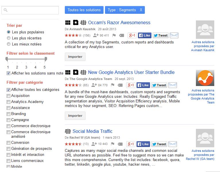 import galerie segments google analytics - apprentissage expressions regulieres par christophe vieira