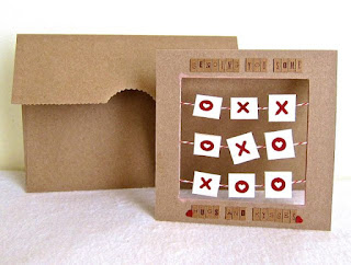 XOXO kraft cardstock card and envelope