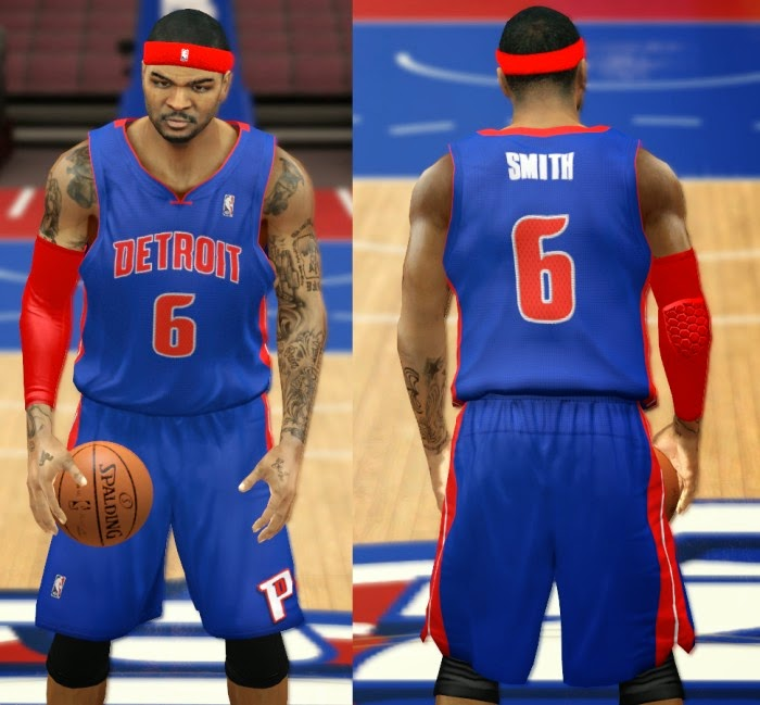 NBA 2K14 Detroit Pistons Jersey Mod Pack