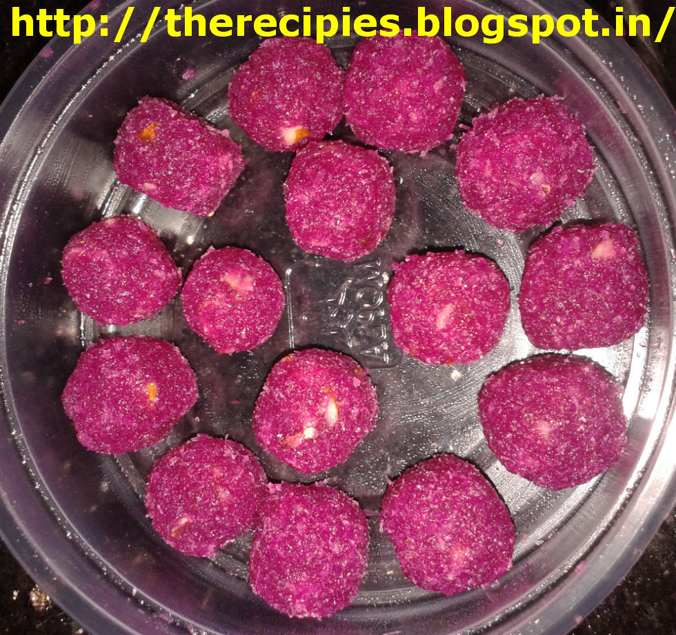 beetroot coconut laddu